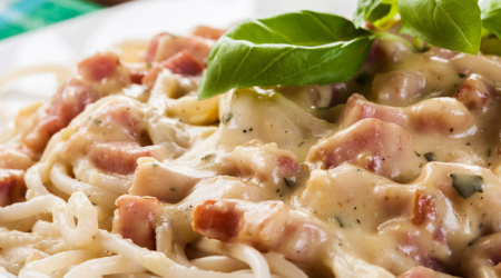 Ambrosia Foods, Inc - Makers of the finest Olive Oil this side of the Mediterranean - (424) 353-1932 - Spaghetti Carbonara