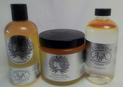 Beauty Products - Face and Body Oil - Forever Young Body Polish - Vitamin C-Water All Natural Toner